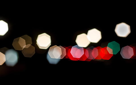 lights with black background