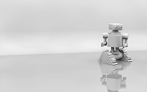 grey metal robot