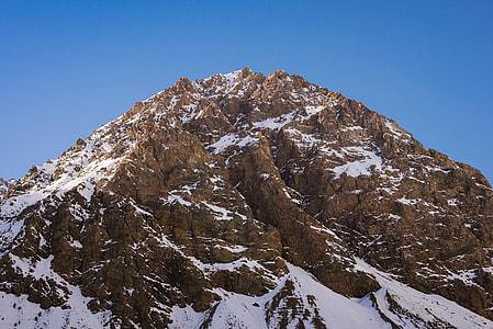 brown and white snow mountain photo
