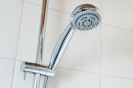 gray shower head