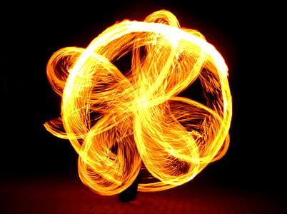 fire dancer photo