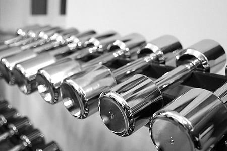 stainless steel dumbbells lot