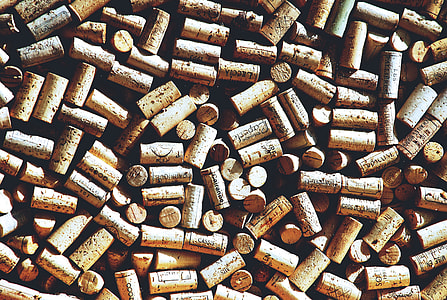 Closeup shot of wine corks