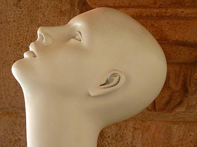 white human head mannequin