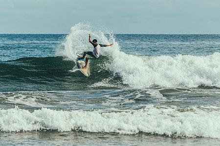 person surfing in a body of water