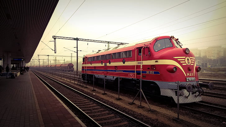 Red Train during Daylight