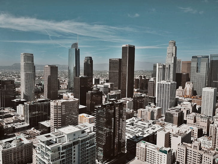 city, urban, tower, skyscraper, building