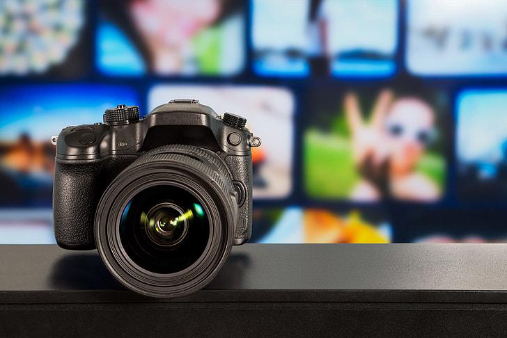 DSLR camera and lens