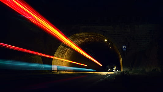 Time Lapse Photo of Tunnel