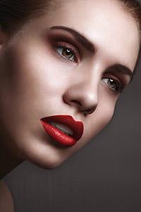 women's red lips