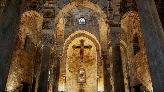 brown church interior