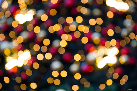 Blurred Christmas lights captured in London, England with a Canon 6D DSLR