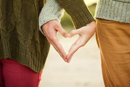 heart-shape hand gesture