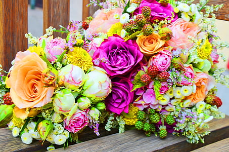 roses, hydrangeas, chrysanthemums, and lilies bouquet