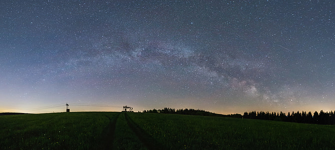 green fields during dawn