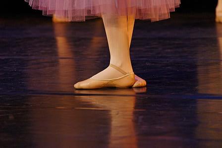 close-up of a ballerina's feet