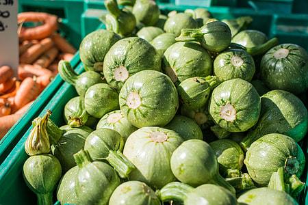 Summer squash on a market