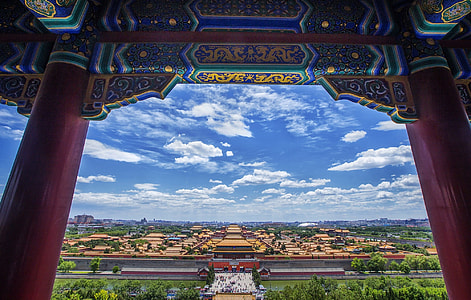 Forbidden City over view photography