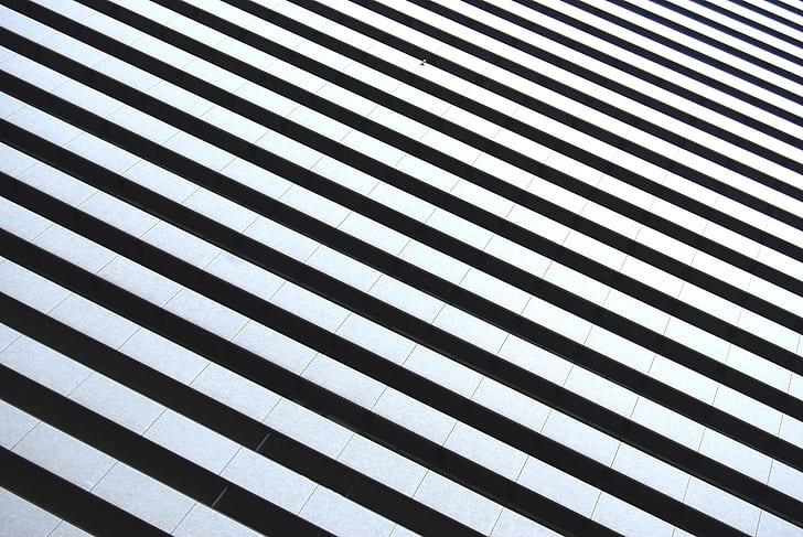 white and black stripe textile