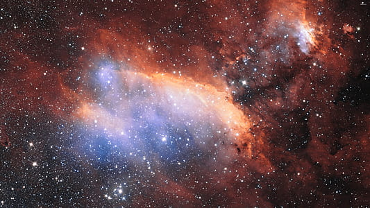 space photography of stars on galaxy