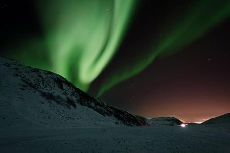 aurora, northern lights, aurora borealis, borealis, green, phenomenon
