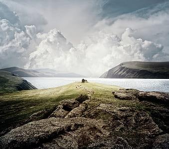 cliff near body of water