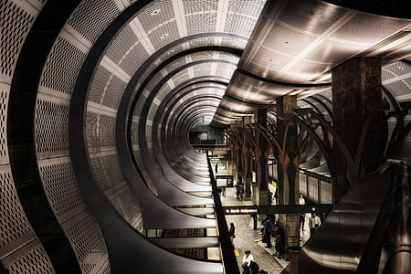 hollywood metro station, train, rail, travel, transportation, los angeles