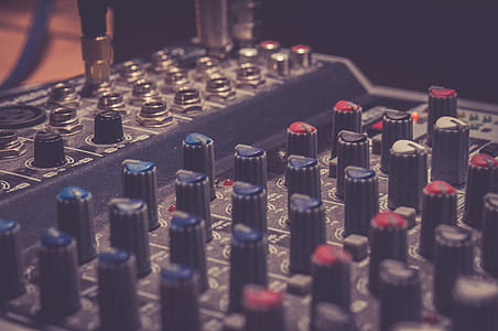 Black Audio Mixer