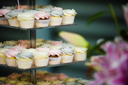 selective focus photo of assorted cupcakes