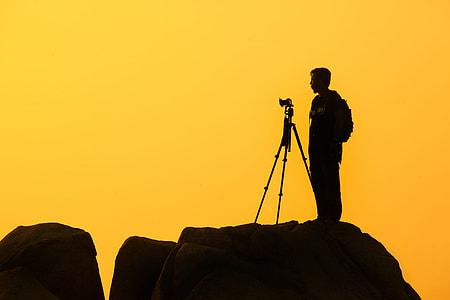 Photographer Silhouette Yellow