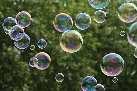 bubbles tilt-shift photography