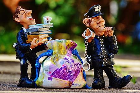 two police man ceramic figures