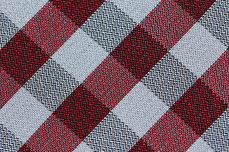 red and white textile
