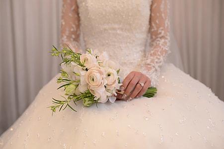 person wearing white dress