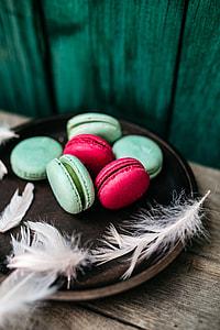 Pink & Green Macaroons