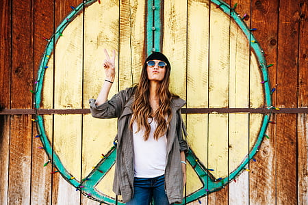 Photo of a Hippie Woman