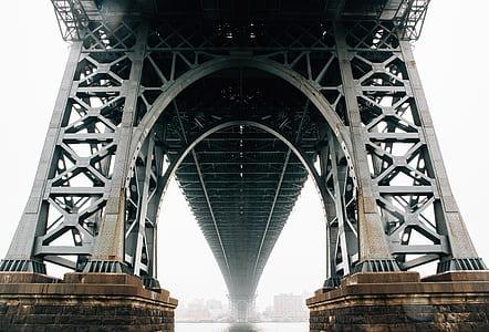 gray and black bridge