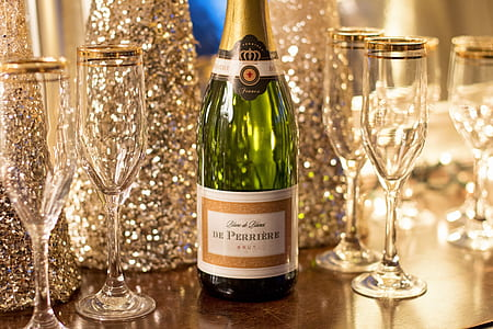 De Perriere bottle beside champagne glasses