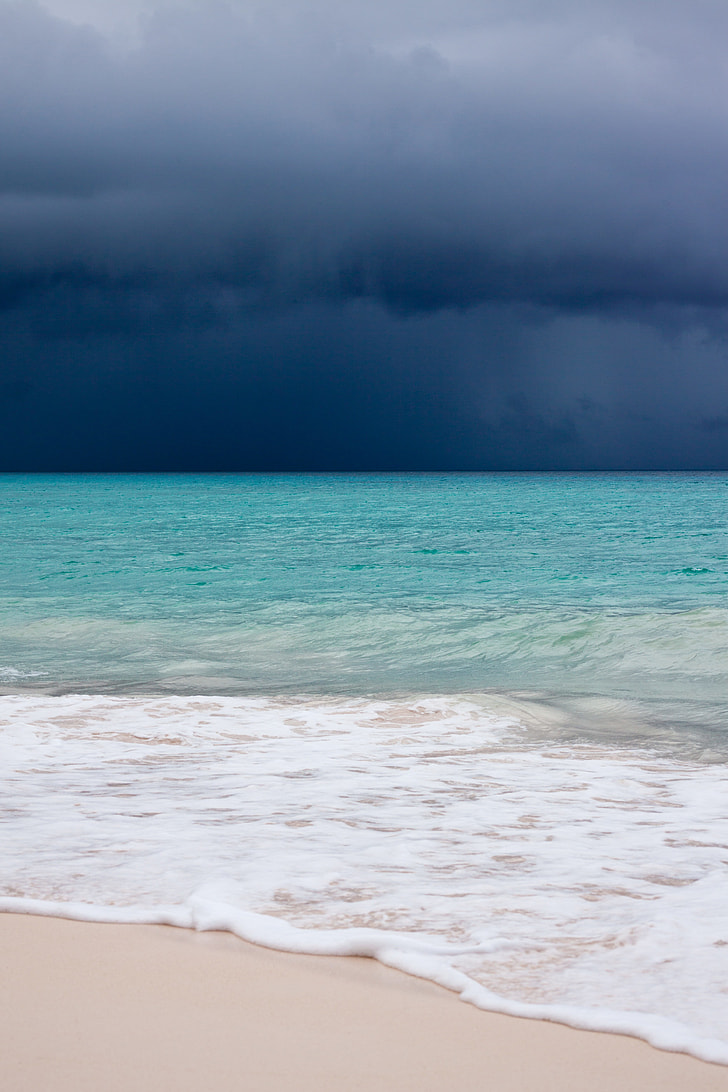 landscape photography of blue water sea