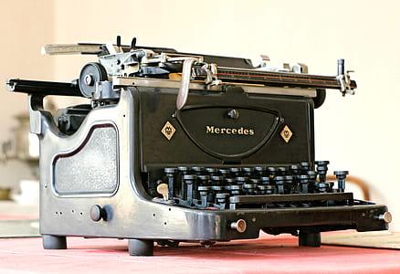 stock photography of vintage black typewriter