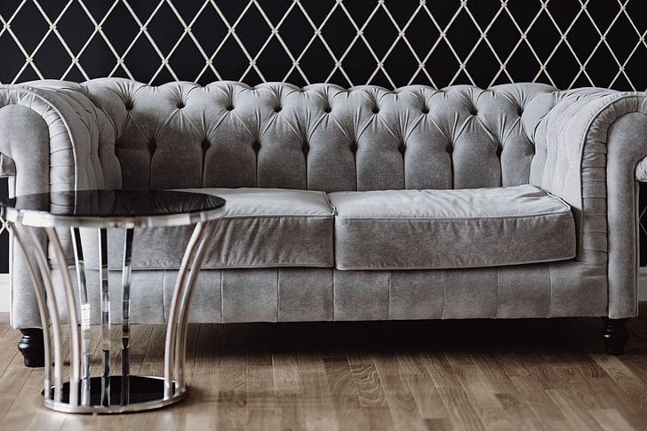 Terrific Royalty Free Photo Elegant Grey Sofa With A Laptop An Inzonedesignstudio Interior Chair Design Inzonedesignstudiocom
