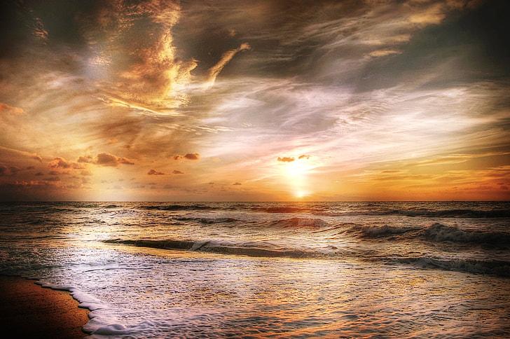 sunset, photo, sun, denmark, summer, sea