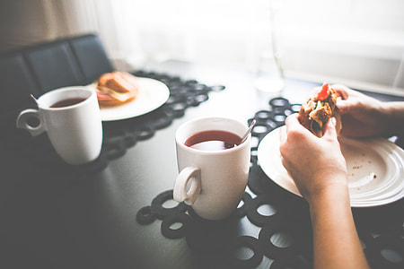 Healthy Morning Snack with a Tea