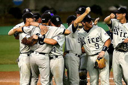 Group of Baseball Player Cheering