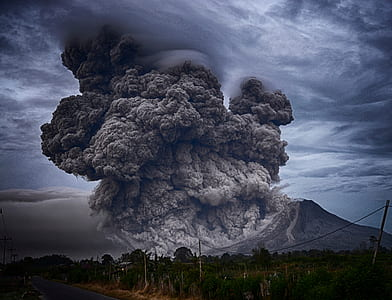 volcano eruption photo