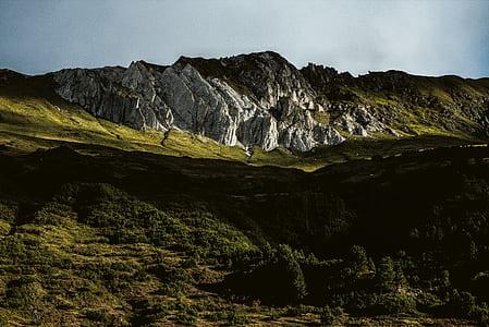 Low Light Photo of Mountain