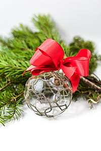 selective focus photography of christmas ornament