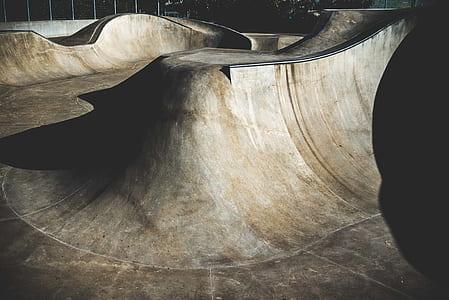 Empty Skate Ramp