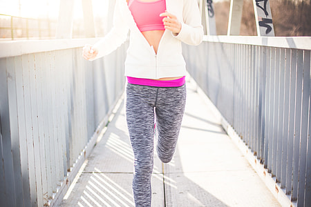 Fitness Girl Jogging Morning Run
