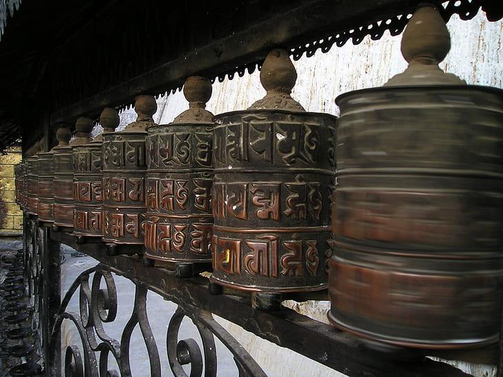 brown jar with lid lot